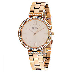 Fossil Women's Quartz Rose-Tone Stainless Steel Bracelet Watch