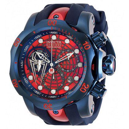Be a Time Superhero And Enjoy Up to 75% Off - 683-261 Invicta Marvel Reserve Men's 52mm Venom Ltd Ed Swiss Quartz Chronograph Watch w 1-Slot Dive Case
