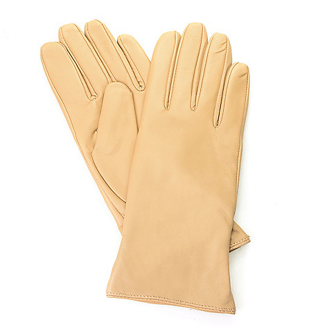f60e39e56 Excelled Women's Cashmere-Lined Lamb Leather Gloves - EVINE