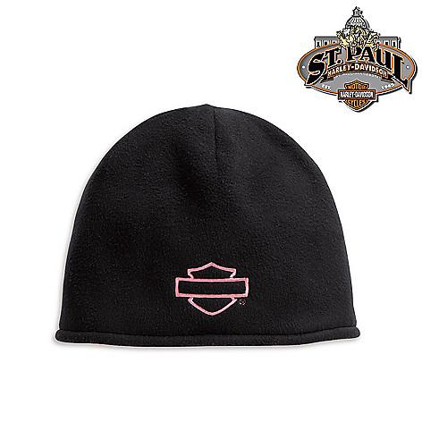 1413b8586 Harley-Davidson® Women's Pink Label Reversible Wind-Resistant Fleece Hat on  sale at evine.com