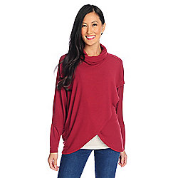 73ab3e297ee Kate   Mallory® Stretch Rayon Dolman Sleeve Tulip Wrap Knit Pullover