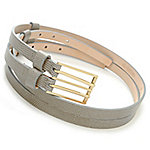 458bd2b7490 Image of product 714-621 · Brooks Brothers Lizard Embossed Leather Double  Strap Belt