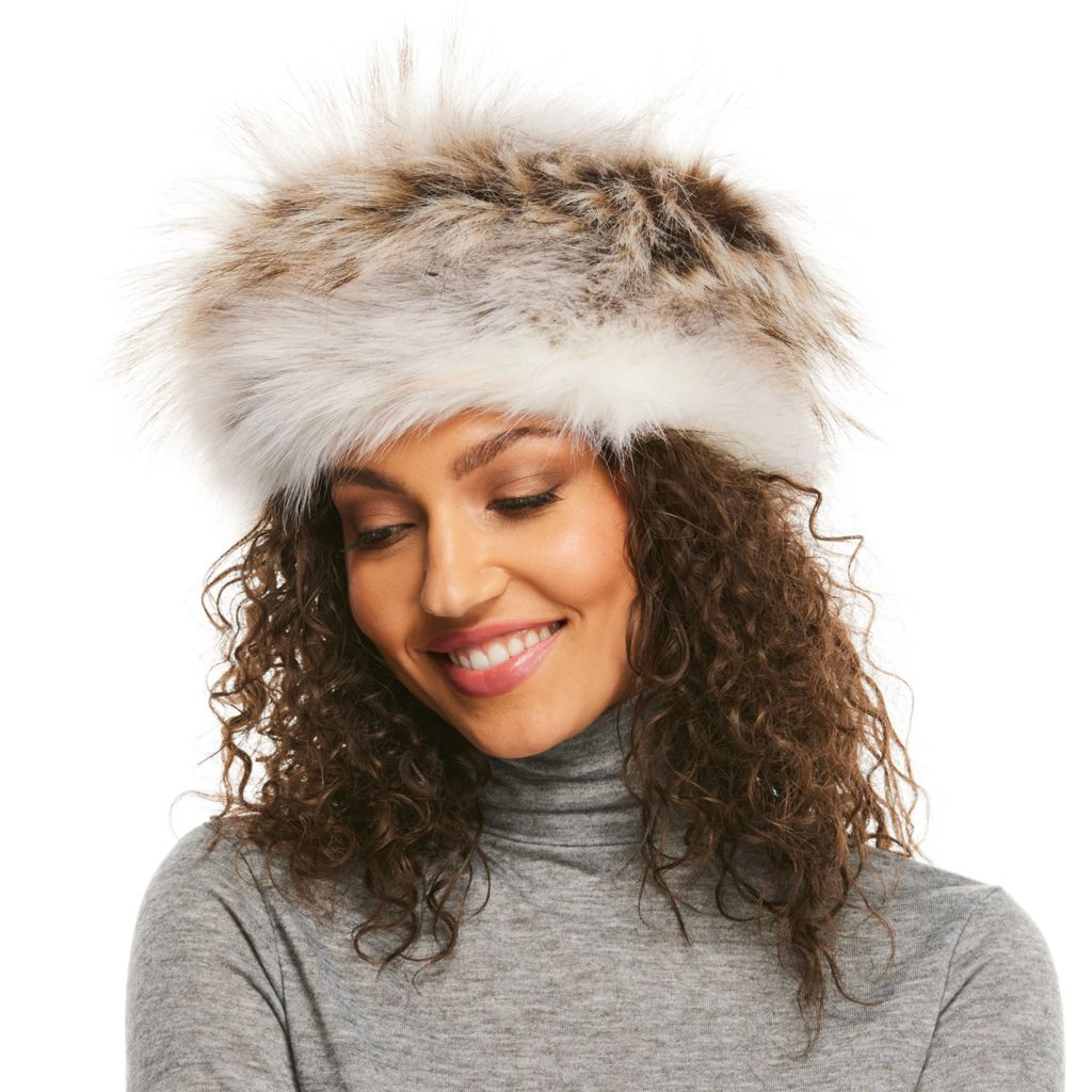 55173999 Donna Salyers' Fabulous-Furs Faux Fur Fully Lined Russian-Style Hat