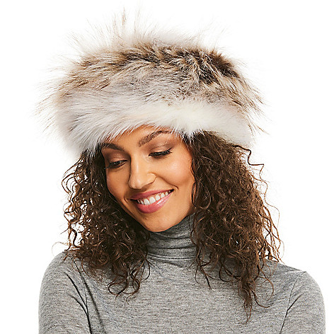 8ac92ecd77a Donna Salyers  Fabulous-Furs Faux Fur Fully Lined Russian-Style Hat ...