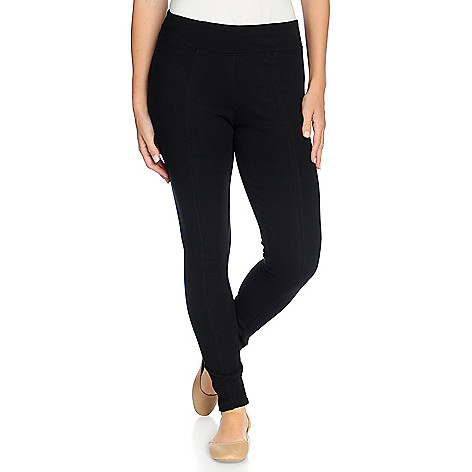 b8374764507 725-247- One World Ponte Knit Elastic Waist Seam Detailed Leggings