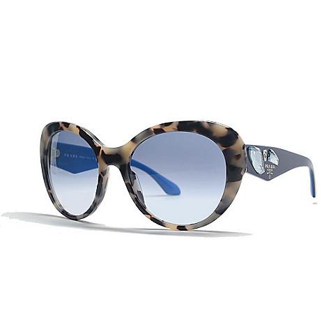 bd6bbb669b Prada Spotted Havana Embellished Round Frame Sunglasses w  Case - EVINE