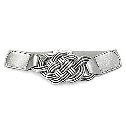 Accessories - 727-683 Marc Bouwer Interlocking Double Snap Stretch Belt - 727-683