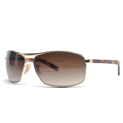 2aebaef2d7 727-845- Ray-Ban Unisex Brown Lens Faux Tortoiseshell Arm Sunglasses