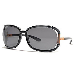 5432e26d573 Image of product 728-405. QUICKVIEW. Tom Ford 62mm Black Oval Frame  Sunglasses w  Case. Evine Price  269.99