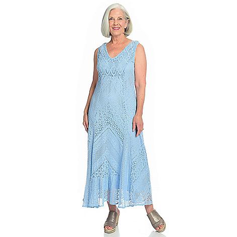 32c336cd Indigo Thread Co.™ Knit & Lace Sleeveless Flounce Hem Maxi Dress - EVINE