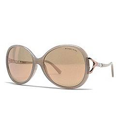Michael Kors Grey Havana Round Sunglasses w/ Case