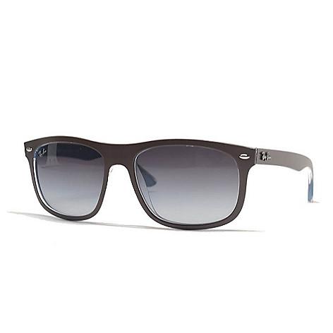 a27e07262f13 730-437- Ray-Ban Men's Brown Rectangular Sunglasses w/ Case