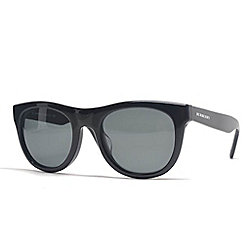 Burberry Black Round Frame Sunglasses w/ Case