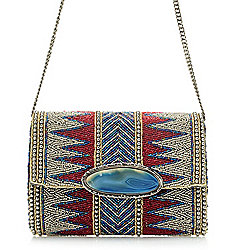 Image of product 731-101. QUICKVIEW. Mary Frances Hand-Beaded Zigzag Design  Flap-over. a63a414acedea