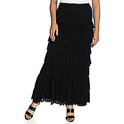 64d367fecbe1 Kate   Mallory® Knit Elastic High Waist Tiered Ruffle Maxi Skirt - EVINE