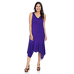 a48cc3c9a39 Image of product 731-835. QUICKVIEW. Kate   Mallory® Stretch Knit Sleeveless  V-Neck Sharkbite Dress