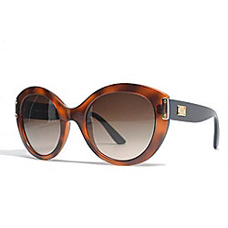 35c518a82121 Versace Brown Lens Oversized Two-tone Frame Sunglasses w  Case