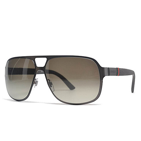 3e22627d6b9 Gucci Men s Aviator Gradient Lens Sunglasses w  Case - EVINE
