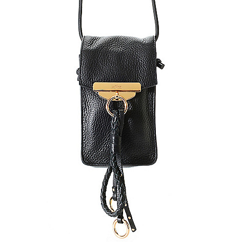 732 209 Kooba Handbags Dionne Leather Flap Over Braided Tassel Detailed