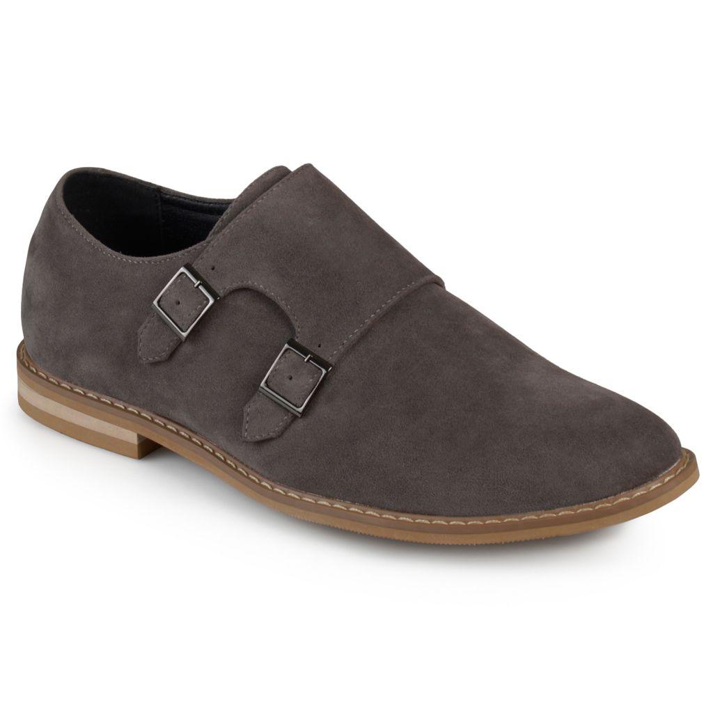 Vance Co Men S Faux Suede Cap Toe Double Monk Strap Shoes Evine