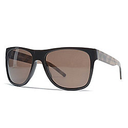 Burberry Brown Gradient Lens Rectangular Frame Sunglasses w/ Case