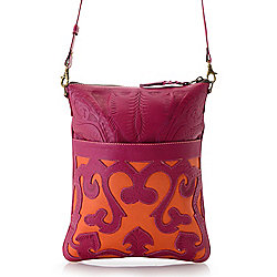Image of product 732-977. QUICKVIEW. Labrado™ Hand-Tooled Leather Color  Block Crossbody Bag 4c4bcb403f