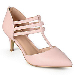 5126bee030a Image of product 733-346. QUICKVIEW. Journee Collection Matte T-Strap High  Heel Pumps