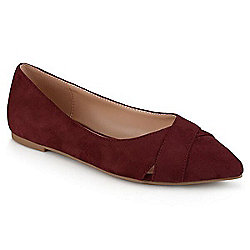 0f99761c588 Image of product 733-352. QUICKVIEW. More Choices Available. Journee  Collection Faux Suede Crisscross Pointed Toe Flats