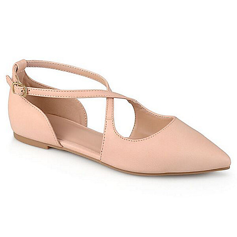 Journee_Collection_Pointed_Toe_Crisscross_Strap_Flats
