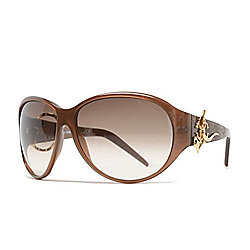 Roberto Cavalli 63mm Brown Hardware Detailed Round Frame Sunglasses w/ Case