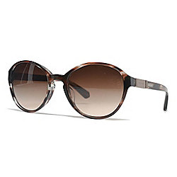 Giorgio Armani 54mm Brown & Havana Gradient Lens Round Frame Sunglasses w/ Case