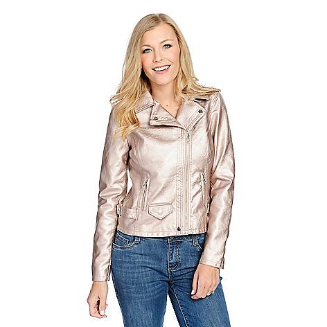 4672ad1eefc172 734-420- mōd x Metallic Faux Leather Long Sleeve Asymmetrical Zip Moto  Jacket