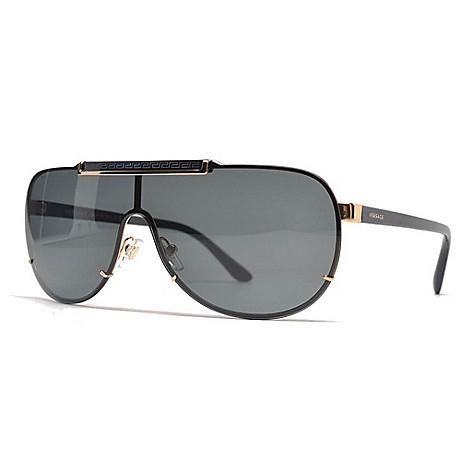 69bbbf3d4b3e 734-602- Versace Men's 40mm Black & Gold-tone Sunglasses