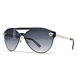 4b1cf57f8ec Versace Black   Gold-tone Aviator Sunglasses