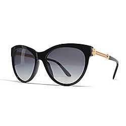 13b88befaf4 Versace 57mm Black   Gold-tone Cat Eye Frame Sunglasses