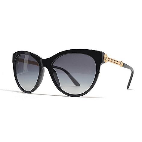 bb542aebcb 734-608- Versace 57mm Black   Gold-tone Cat Eye Frame Sunglasses