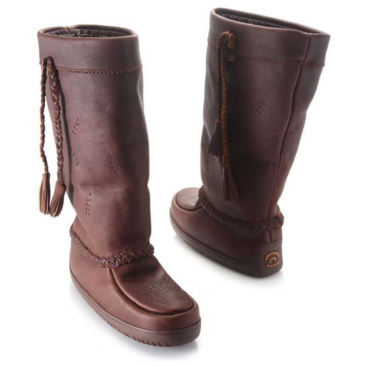 Manitobah Mukluks Style Centuries in the Making at ShopHQ | 734-618 Manitobah Mukluks Tamarack Oiled Leather Waterproof Mid-Calf Boots