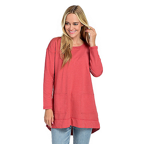 Wholesale Indigo Thread Co. French Terry Knit Drop Shoulder 2-Pocket Raw Edge Sweater supplier v3fGrJWc