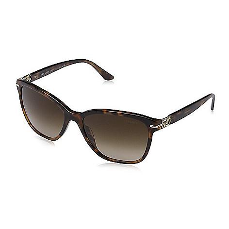 61a2a68815 734-894- Versace Brown Cat Eye Frame Sunglasses w  Case