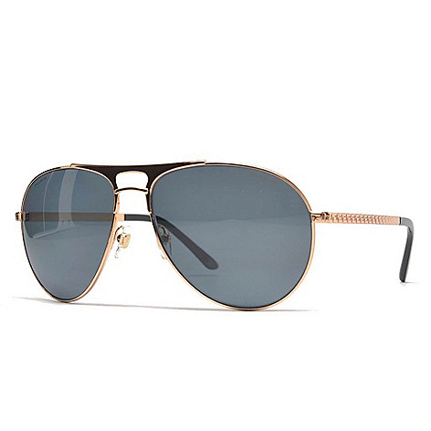 32b69dce6c8 734-897- Versace 60mm Gold-tone Aviator Frame Sunglasses w  Case