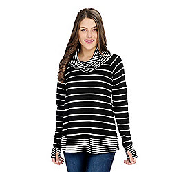 756cf8d412f565 Image of product 735-069. QUICKVIEW. More Choices Available. OSO Casuals®  Striped Knit Long Raglan Sleeve ...