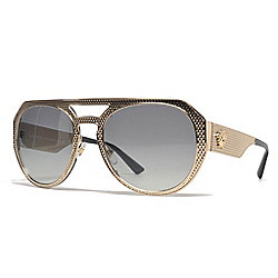 6c53d56575a39 Image of product 735-220. QUICKVIEW. Versace Gold-tone Aviator Frame  Sunglasses w  Adjustable Nose Pads   Case