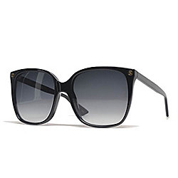 c0145b7962139 Image of product 735-227. QUICKVIEW. Gucci Black Cat Eye Frame Sunglasses w   Case