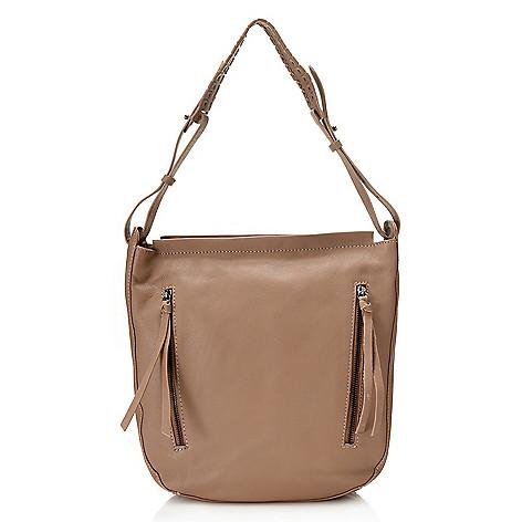 735 280 Kooba Handbags Beverly Leather Dual Front Pocket Grommet Detailed Hobo