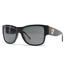 5272e965954 Versace 58mm Black Gradient Lens Rectangular Frame Sunglasses w  Case