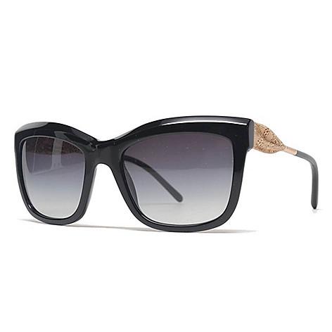 0eb5d43fafde8 735-541- Burberry Black   Gold-tone Gradient Lens Cat Eye Frame Sunglasses
