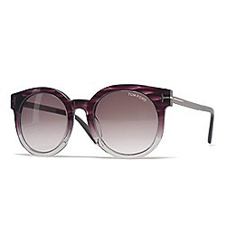 Tom Ford Violet Round Frame Sunglasses w/ Case