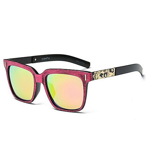 7f056ba136437 735-762- Dasein 63mm Faux Wood Square Frame Sunglasses w  Case