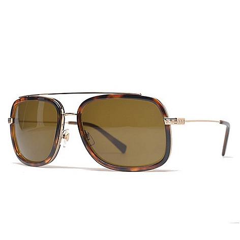 76559c72306 735-808- Versace 60mm Pale Gold-tone   Havana Aviator Frame Sunglasses w