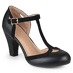 078c78fa486 Image of product 735-838. QUICKVIEW. Journee Collection Faux Leather Wide  Width T-Strap Round Toe Mary Jane Pumps